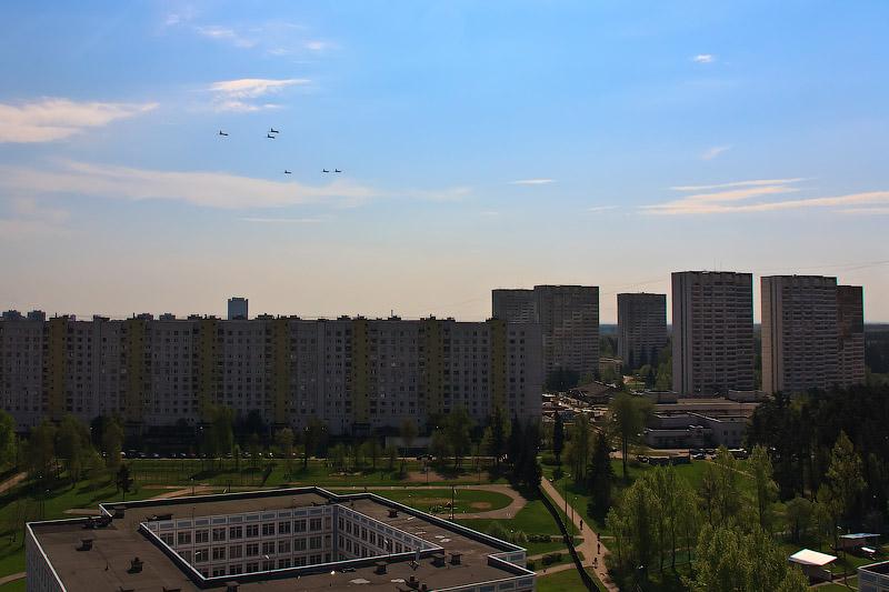 Самолёты над Зеленоградом, Парад Победы
