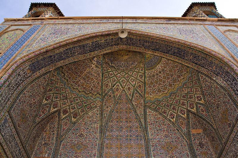 Роспись на мечети в Ширазе