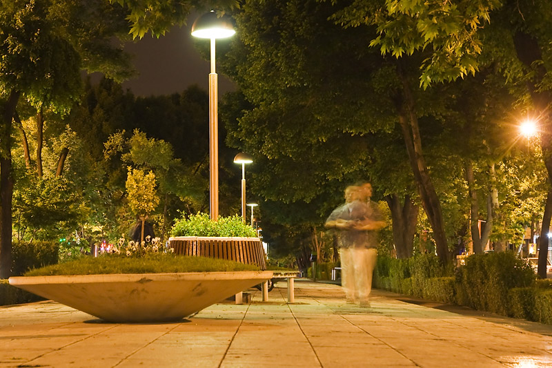 Ночной Исфахан. Chahar Baq Abbasi