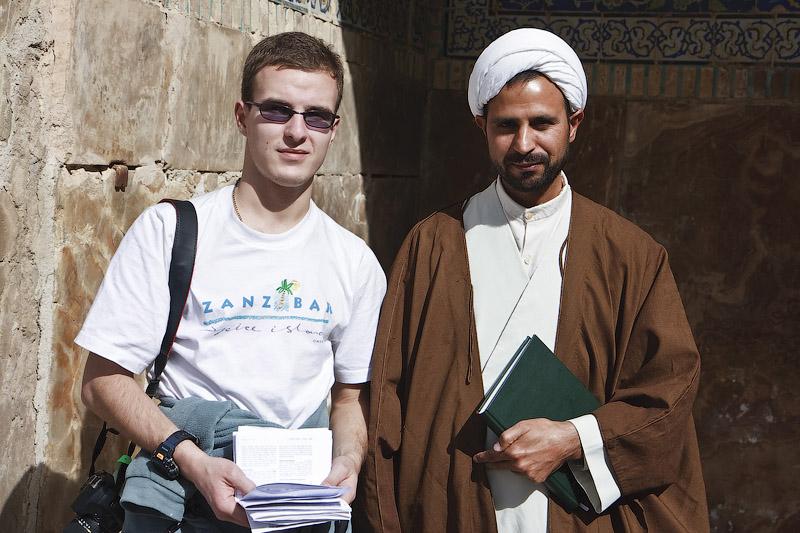 Мулла в мечети в Исфахане